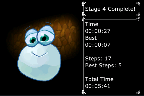 Snowball Touch stage complete statistics
